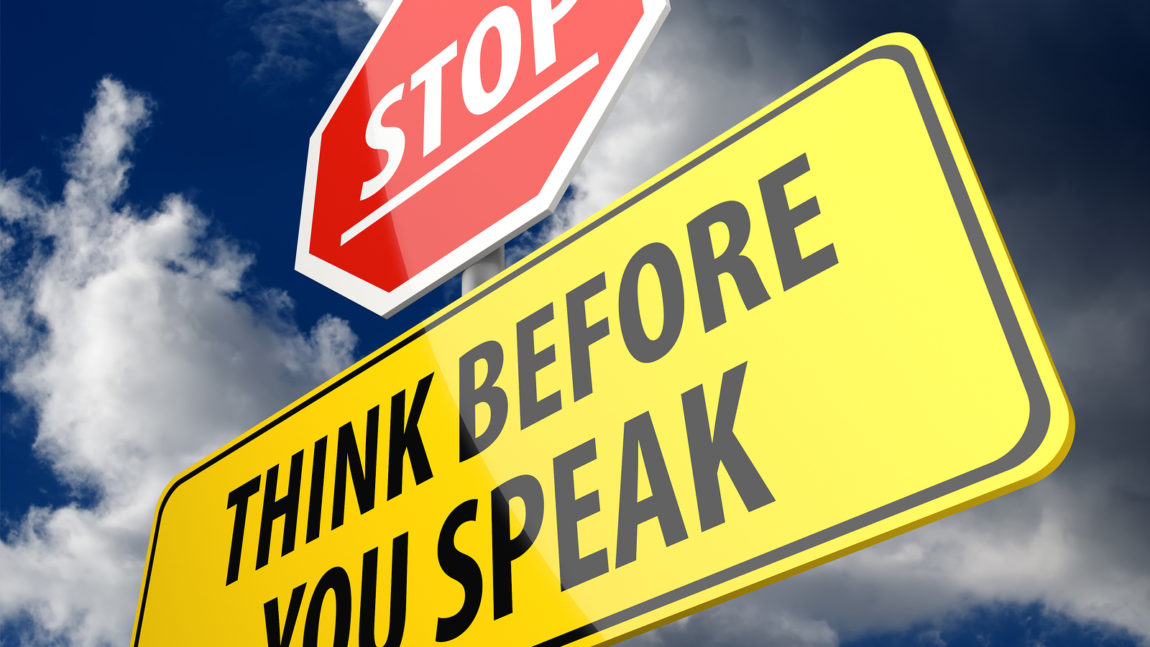 Highly Emotional? Think Before You Speak